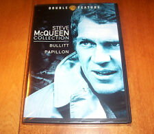 STEVE McQUEEN COLLECTION BULLITT PAPILLON Classic 2 Movie DVD SEALED NEW