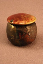 RAKU Unique Ceramic Companion Small/ Keepsake Funeral Cremation Urn #K002