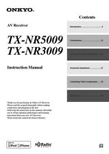 Onkyo Integra TX-NR3009 Receiver Owners Instruction Manual