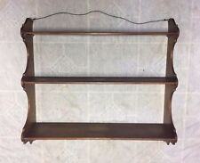 Antique / Vintage  Large Maple Wood Wall  Curio Display 3 Tier Shelf