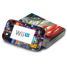 Skin Decal Cover for Nintendo Wii U Console & GamePad - Racing Cars 1