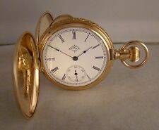 120 YEARS OLD ELGIN 14k GOLD FILLED MULTICOLOR HUNTER CASE SIZE 6s POCKET WATCH