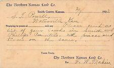 The Northern Kansas Land Company, Smith Centre KS 1902