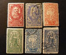 "JUGOSLAVIA ,JUGOSLAVIJA STATO SHS 1919 Slovenia ""Em. Lubiana"" 6V.Cpl set MH*/US"