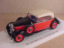 Spark 1/43 Resin 1937 Mercedes-Benz 320 A Convertible, Black & Red  #S4904