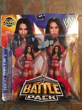 Mattel WWE NIKKI & BRIE BELLA figure Battle Pack 26 Twins Red Total Divas Rare