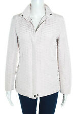Weekend Max Mara Light Pink Nylon Quilted Snap Button Jacket Size 6