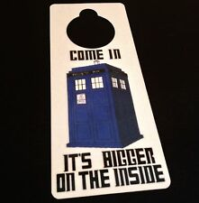The Doctor Door Hanger Sign Police Call Box Time Lord Machine Who Dr TARDIS BBC