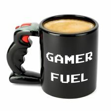 Gamer Fuel Mug Large 650ml Ceramic Tea & Coffee Cup Black Video Game Gift