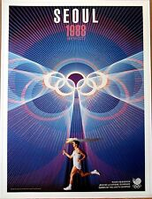 """Olympic Poster 31.5""""x 23.25""""(80 x59 cm) LARGE Size reproduction 1988 Seoul"""