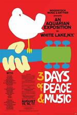 24x36 Woodstock Concert Poster 3 Days of Peace and Music