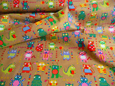 Babycord, Brown, Monster, Cotton, Kid's Fabric, By The Metre