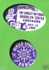 Two 1965 Homecoming & Winter Sports Pins: Brooklyn Center High School, MN