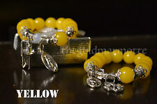 Elegant Glass Rosary Bracelet (Yellow)