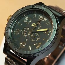 NEW NIXON 51-30 Black Gold Chrono Watch ,5130, A083-104,SALE! MEN GIFT SALE!