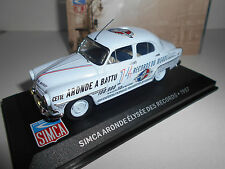 SIMCA ARONDE ELYSEE DES RECORDS 1957  COLLECTION SIMCA ALTAYA IXO 1/43
