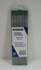 "Radnor 64001953 5/32"" x 7"" Ground Finish Pure Tungsten Electrode Pack of 10"