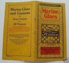 Booklet For Marine Glues What To Use & How To Use It 1925
