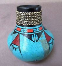 Native American Zia Pueblo Hand Coiled Pottery Large Pot by Ralph Aragon  P0033