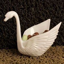 Set of 12 Beautiful White Swan Wedding Favors Candy Dish Containers 3""