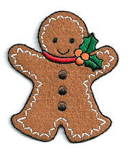 Gingerbread Man - Holiday - Cookie - Iron On Applique Patch