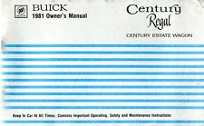 1981 BUICK REGAL CENTURY INSTRUCTION BOOK OWNER'S MANUAL BETRIEBSANLEITUNG