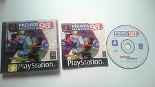 JUEGO COMPLETO PREMIER MANAGER 98 PLAYSTATION 1 PS1 PSONE PSX.PAL UK