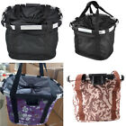 Brand New Bicycle Bike Cycle Front Bar Carrier Bag Basket With Quick Release UK