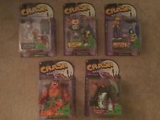 ReSaurus CRASH BANDICOOT 1998 Series 1 Figure Set Bundle Lot Cortex Tiny Coco