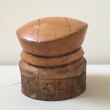 VINTAGE WOOD HAT BLOCK 5 PIECE MILLINERY PUZZLE MOLD