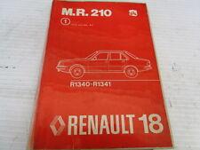 MR.210 MANUEL DE REPARATION MECANIQUE RENAULT R18 REF 7701443266