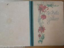 Vecchio quaderno scolastico di scuola d epoca decoro floreale DE BELLO GALLICO