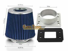 Mass Air Flow Sensor Intake Adapter + BLUE Filter For 85-91 Corolla GTS 1.6L L4