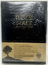 Holy Bible King James Version Black Golden Page Edges New