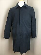 NEW London Fog Men's Black Water Repellent Trench COAT JACKET (38S) NWOT