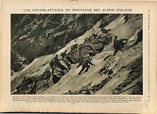 Alpini Alps Chasseurs Alpins Italia Italy Italie Front d'Asiago/Trench 1918 WWI