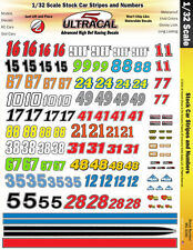 MG3340 - 1/32 UltraCal High Def Decals Stock Car Racing Numbers