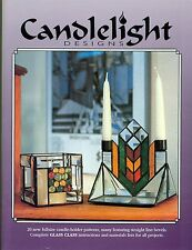 Candle Light Designs Stained Glass Pattern Book, 20 Designs, Bevel, Nuggets,