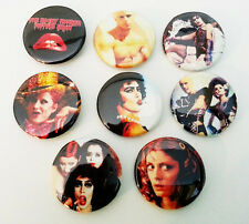 8 piece lot of Musical comedy/Horror  pins buttons badges