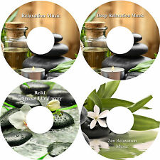 Deep Relaxation Music On 4 CDs Massage Spa Healing Stress Relief Sleep Aid