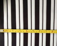 Printed Black and White Stripe on Scuba Stretch Jersey Fabric