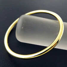 A788 GENUINE REAL 18K YELLOW G/F GOLD GIRLS KIDS SIZE SOLID CUFF BANGLE BRACELET