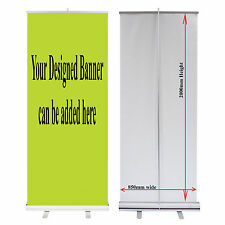 850 Roller Up Banner Roll / Pull up Exhibition Display Stand Only 85cm x 200cm