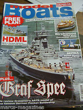 MODEL BOATS FEBRUARY 2010 GRAF SPEE HDML HARBOUR DEFENCE PLAN ESSEX POLICE UNIT