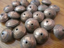 HAND MADE SQUASH BLOSSOM BEADS(12) OUT OF ORIGINAL INDIAN HEAD CENTS(1859-1909)