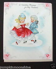#G609- Vintage Unused Valentine's Day Greeting Card Victorian Couple Dancing