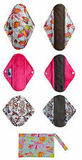 Cloth Menstrual Pad, Bamboo Charcoal Mumma Cloth 6 pack & Butterfly mini wet bag