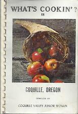 WHAT'S COOKIN IN *COQUILLE VALLEY OR 1972 JR WOMEN'S CLUB COOK BOOK *LOCAL ADS