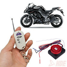 Motorcycle Anti-Theft Alarm Security System Vibration Detector Sensor w/ Remote