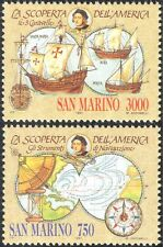 San Marino 1991 Columbus/America/Boats/Sailing/Transport/Explorers 2v set n43351